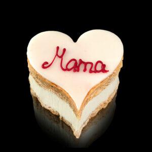 Cremeschnitten-Herz-Mama