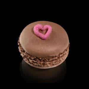 Macarones-Schokolade-kleinen-Herzen